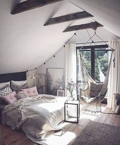 Scandinavian Bedroom Design Scandinavian style is one of the most popular styles of interior design. Although it will work in any room, especially well . Scandinavian Bedroom, Cozy Bedroom, Bedroom Inspo, Scandinavian Design, Design Bedroom, Bedroom Bed, Bedroom Romantic, Modern Bedroom, Bedroom Storage