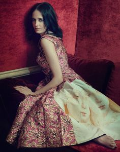 Eva Green Poses in the Most Luxurious Fashions for The Edit September 2016 - Prada Fall 2016