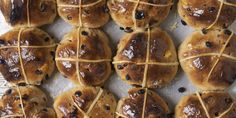 Hot Cross Buns:  Hot cross buns are an Easter classic, so they obviously have to be on your table. And because they're so easy to make -- and so easy to devour -- you might find yourself whipping them up even after the Easter bunny has clocked out for the year. - Delish.com