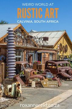 Stop at Calvinia's Rustic Art tucked away from the main drag and unearth a weird world of junk and art in the Karoo. Sa Tourism, Travel Around The World, Around The Worlds, Cities In Africa, Places To Travel, Places To Go, Amazing Destinations, Travel Destinations, Wildlife Safari
