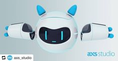 #repost @axs_studio --- Sneak peek of the multiplayer VR game we've been working on! Here's a cute nanobot I helped to model. . . . #art #science #sciart #3d #model #maya #autodesk #redshift #technology #vr #game #medicine #robot #future