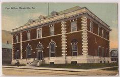 Meadville Pennsylvania Post Office Chestnut Street View 1912