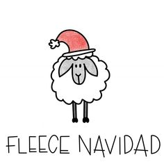 fleece navidad christmas pun sheep