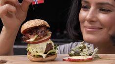 Sara La Fountain's festival burger recipe - with bacon marmalade and a norwegian blue cheese sauce