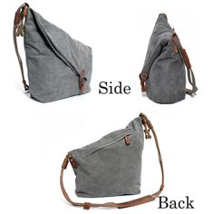 Women Vintage Messenger Bag Genuine Leather Canvas Crossbody Bag Tribal Rucksack