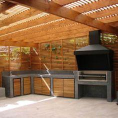 Easy Fire Pit, Barbecue, Backyard Patio Designs, Outdoor Kitchen Design, Ideas Para, Pergola, Outdoor Structures, Garden, Sandro