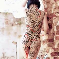 👹🐉 Concept and artwork by: Carson Yip Location: Vancouver BC, Canada Artist's IG: Asian Tattoos, Hot Tattoos, Body Art Tattoos, Girl Tattoos, Tattoos For Women, Backpiece Tattoo, Hannya Tattoo, Full Body Tattoo, Back Tattoo