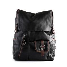 Korean Student Laptop Bag Leather Fashion Travel Backpack