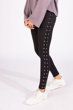Bluenotes High Rise Side Lace Up Legging
