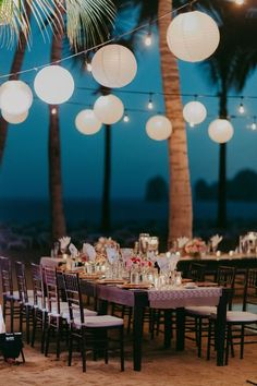 The prettiest beach-side wedding reception setup  | wedding | | beach wedding | | beach wedding ideas | #wedding #beachwedding #beachweddingideas https://www.starlettadesigns.com/