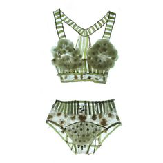 ⋘⋲◈⋺⋙ ❤ liked on Polyvore featuring lingerie, underwear, undergarments, underthings and bathing suit