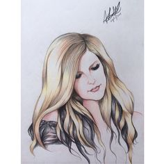 When the world's crashing down, when i fall and hit the ground #happywomanday #alice #avrillavigne #drawing #art