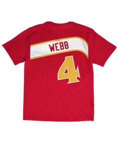 cbc3d9cbd Mitchell   Ness Men s Spud Webb Atlanta Hawks Hardwood Classic Player  T-Shirt - Red S