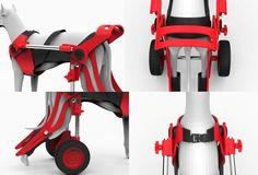 Dog wheelchair by Michał Szczególski, via Behance