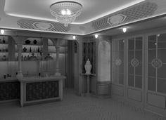 Wizualizacja3.  projektu jadalni i baru