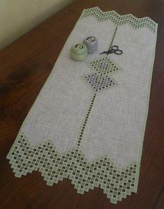 grigio e verde | striscia hardanger su lino 11 fili | lavori di Silvia | Flickr