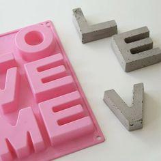 DIY Concrete Letters