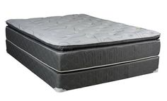 Madrid Grey White Foam Pillowtop Medium Plush King Mattresses
