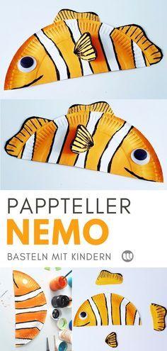 Nemo basteln aus Papptellern