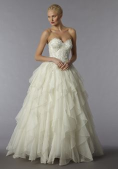 Pnina Tornai does it again! Show-stopping Silk Organza Gown. Style 4191