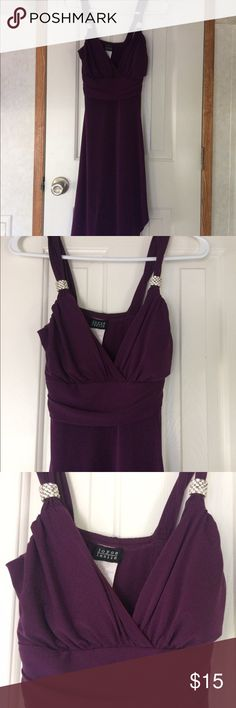 Beautiful Purple cocktail dress Very good used condition. Well loved cocktail dress. Worn to formals and homecoming. Very cute. No pillage or stains of any kind Joyce Leslie Dresses Prom