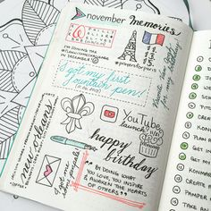 Back again with section 4 of our 101 Bullet Journal Page Ideas. This segment is all about inspirational bullet journal pages and dump pages. Bullet Journal Inspo, Bullet Journal Page, Bullet Journals, Journal Layout, My Journal, Journal Pages, Memory Journal, Journal Design, Smash Book