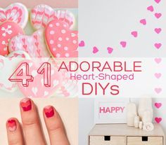 41 adorable heart-shaped DIYs