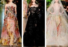 Dresses and gowns by ELIE SAAB Couture, Spring 2015 collection