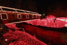Covered Bridge at Clifton Mill ~ Ohio unbelieveable Christmas Lights!