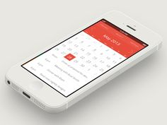Apple iCal Flat UI Design by Asher Charles