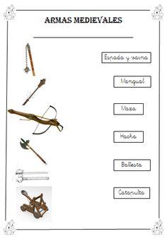 Armas mediavales.    http://amimegustaelcole.blogspot.com.es/2013/11/banderines-medievales-y-mas.html