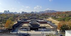 Changgyeonggung Palace  Panorama of  south  Korea The whole view or front view of Changgyeonggung Palace, Republic of Korea