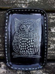 Shoshonasnow ceramic owl tray  $24.00