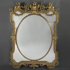 A Fine Louis XIV Style Carved Giltwood Marginal Frame #Mirror - #adrianalan #decor