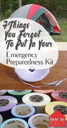 Emergency Preparedness, How to Prepare for Emergencies, Emergency Preperation, Items to Include in A Emergency Preparedness Kit, Home, Family Prepardeness, Home and Family, Kids and Family, Popular Pin
