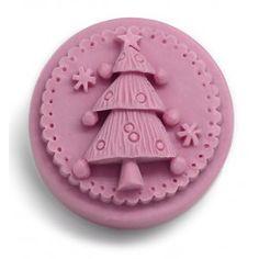 Molde de jabón navideño, Arbolito Decorado. Molde de silicona 3D. Apto para hacer jabones de glicerina. DIY.