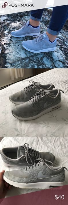 Women's Gray Air Max Thea Women's size 7.5 Air Max Thea  Worn a few times but cleaned and in good condition Nike Shoes Sneakers