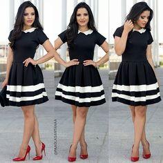 {Vestido Lady Like P&B Lindo da @giselejsantana } ✅@giselejsantana (11) 98262-4259