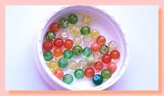 35 perles 6 mm verre effet craquelées trio de couleur jaune orange et vert : Perles en Verre par chely-s-creation