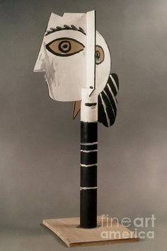 Pablo Picasso, Head of a woman, Wood 1957 National Museum of Modern Art-George Pompidou Center, Paris