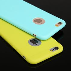 Hot Sales Cute Candy colors Soft TPU Silicon phone cases for iphone 5 5S SE 6 6S 6plus Fashion back Coque Case with logo window
