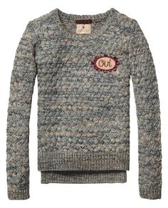 Special Knitted Sweater | Pullover | Girl's Clothing at Scotch & Soda