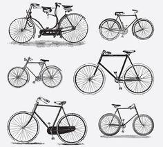 BICYCLES | FREE VINTAGE VECTORS