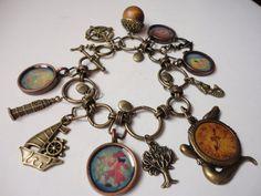 NEVERLAND Disney Peter Pan Captian Hook Charm bracelet by ImAsMADaSaHaTTeR, $34.00