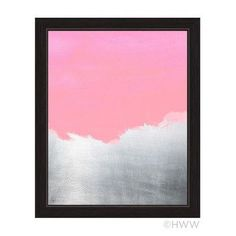"""Click Wall Art Abstract Framed Painting Print in Pink Size: 13"""" H x 11"""" W x 1"""" D"""