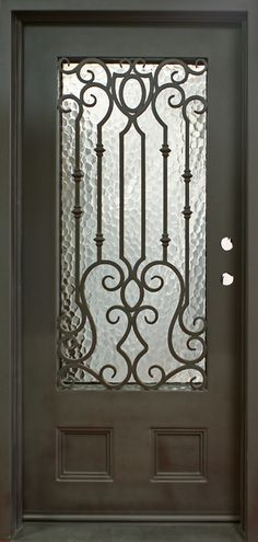 single entry wrought iron doors decorative doors gates garage doors love that - Decorative Doors