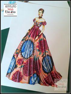 Ecco un altro Figurino che fa parte della mini collezione TRIONFO PREZIOSO realizzata da Valentina e ispirata allo stile Dolce&Gabbana. @ValentinaBailo