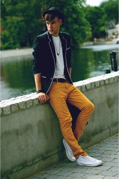 Zara yellow pants #men #style #fashion