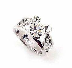 Cecilia Mc 18KGP 2.5ct Disney Mickey Mouse ring swarovski crystal silver Ring