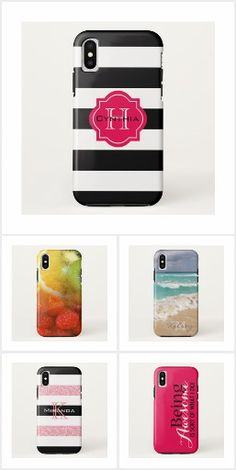 iPhone X Case-Mate Cases - girly, stripes, striped, stripe, monogram, monograms, monogrammed, typography, fruit, nature, fashion, animal print, damask, patterns, leopard, zebra, birds, owl, owls, iPhone, iPhone case, iPhone cases, case, cases, iPhone X, iPhone X case, iPhone X cases